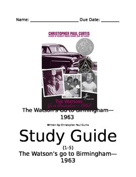 Watson's Study Guide--Chapters 1-5 ONLY