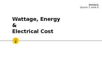 Wattage and Electrical Cost