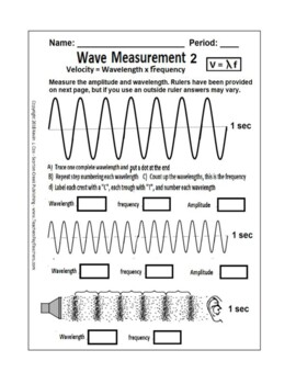 Wave Measurement Worksheet