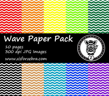 Wave Paper Pack 1 - 10 colors