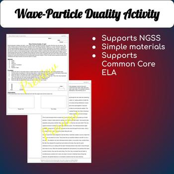 Wave Particle Duality Worksheets & Teaching Resources | TpT