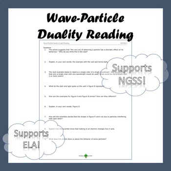 Wave Particle Duality Worksheets & Teaching Resources   TpT