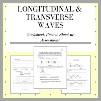 Wave Properties Basic Worksheet On Longitudinal Transverse Waves