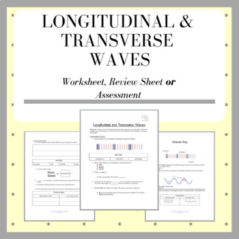 Wave Properties: Basic Worksheet on Longitudinal & Transverse Waves