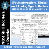 Wave Properties, Digital and Analog Signal Review Puzzles