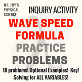 Wave Speed Formula  HS-PS4-1