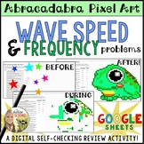 Wave Speed Frequency Wavelength Problems Pixel Art Digital Review