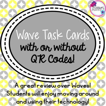 Wave Task Cards with or without QR Codes
