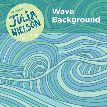 Wave background clipart set