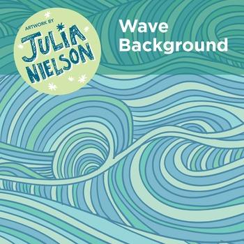 Wave background clipart set