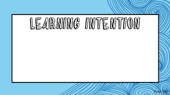 Wave learning intention & success criteria blank template