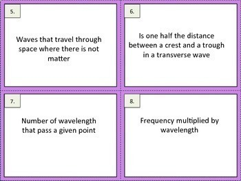 Waves Exit Tickets Task Cards