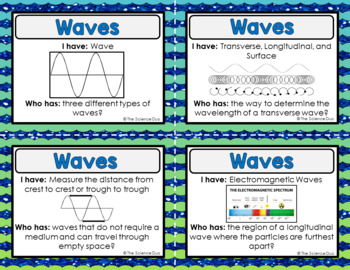 Waves  Activity - I Have, Who Has?