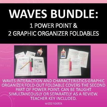 Waves Bundle: 1 Power Point & 2 Graphic Organizers for Interactive Notebook