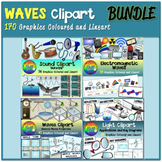 Waves Clipart (Light, Sound, Electromagnetic Waves and Gen