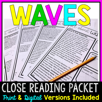 Waves Close Reading Packet (Mechanical and Electromagnetic)