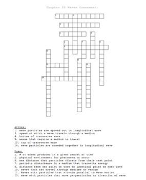 Waves Crossword Puzzle