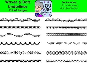 Waves & Dots Underlines