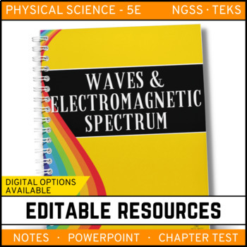 Waves Electromagnetic Spectrum Notes Powerpoint Test Editable