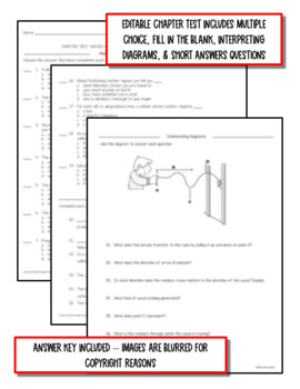 Waves & Electromagnetic Spectrum:  Notes, PowerPoint & Test ~EDITABLE