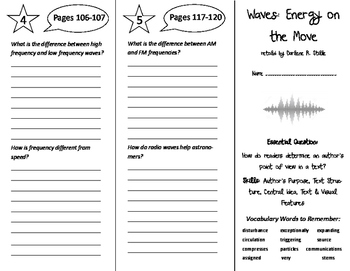 Waves: Energy on the Move Trifold - ReadyGen 6th Grade Unit 2 Module A