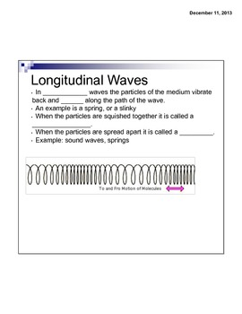 Waves Guided Notes - Waves Smart Board Lesson
