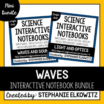Waves (Light, Sound & EM Spectrum) Interactive Notebook Unit