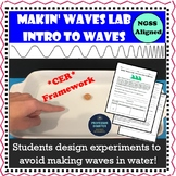 Waves Lab NGSS 4th Grade and Middle School Intro to Waves 4-PS4-1 MS-PS4-1