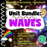 Waves, Light, & Sound Notebook Bundle | Physical Science M