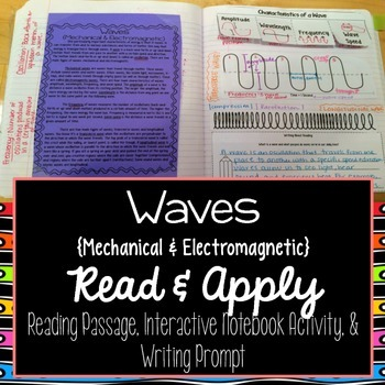 Waves Reading Comprehension Interactive Notebook
