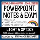 Light and Optics PowerPoint, Notes & Exam