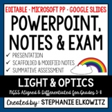 Light and Optics PowerPoint, Notes & Exam