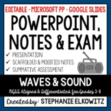 Waves and Sound PowerPoint, Notes & Exam