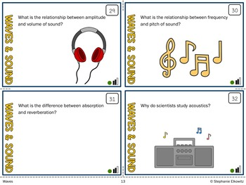 Waves and Sound Task Cards (Differentiated and Tiered)