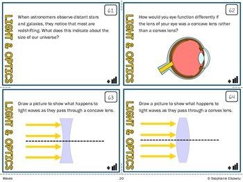 Light and Optics Task Cards