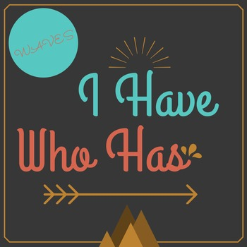 Waves Review Game- I Have, Who Has