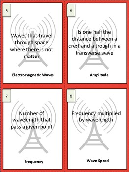 Waves Study Buddy Vocabulary Cards