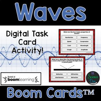 Waves Task Cards - Digital Boom Cards™