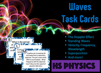 Waves Task Cards - High School Physics