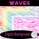 Waves Textured Digital Paper/Background