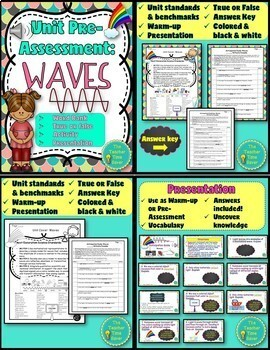 Waves Unit Bundle- Physical Science (Lessons, Presentations, Projects & Test)