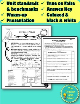 Waves Unit Pre-Assessment/Warm-up Activity Handout