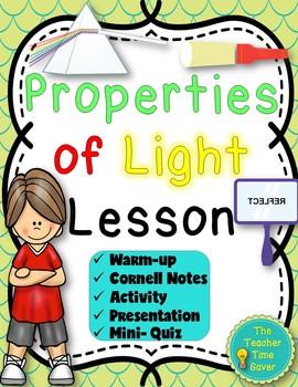 Waves Unit- Properties of Light (Reflection, Opaque, Translucent, & Transparent)