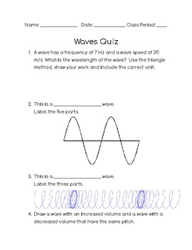 Waves Unit Quiz