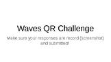 Waves Unit Review QR Challenge