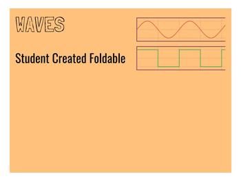 Waves Vocabulary Foldable