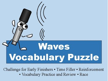 Waves Vocabulary Puzzle
