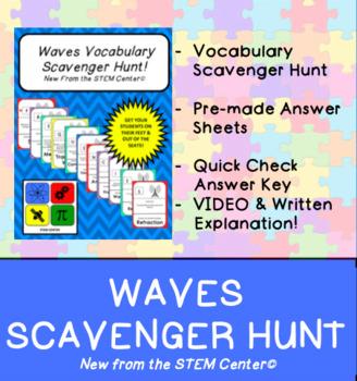 Waves Vocabulary Scavenger Hunt