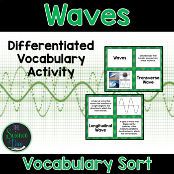 Waves Vocabulary Sort by The Science Duo | Teachers Pay ...