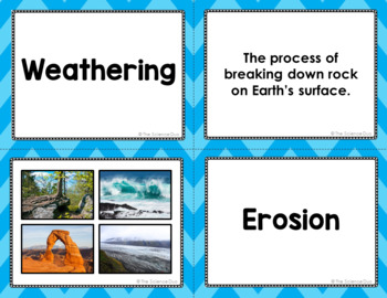 Weathering, Erosion, and Deposition Vocabulary Sort